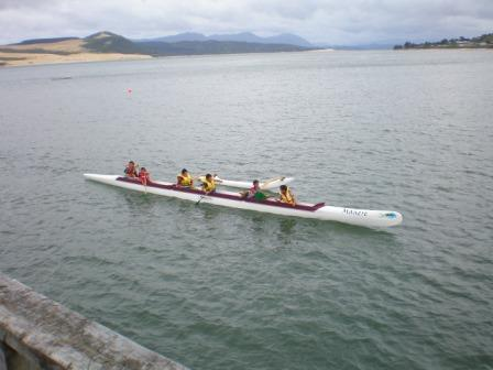 Waka ama on the Hokianga Harbour